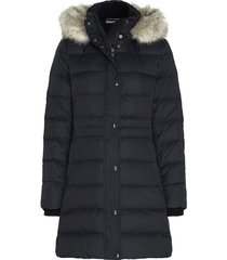 down coat with fur