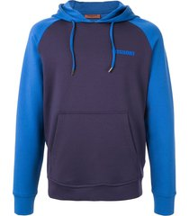 missoni colour-block relaxed-fit hoodie - blue