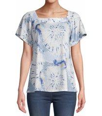jpr abstract-print short-sleeve top
