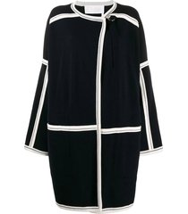 over-sized grid coat