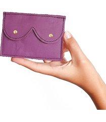 mini portfel fioletowy