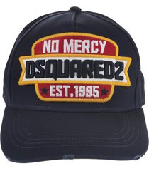 blue baseball cap with no mercy dsquared2 patch