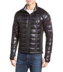 men's canada goose 'hybridge(tm) lite' slim fit packable jacket, size small - black
