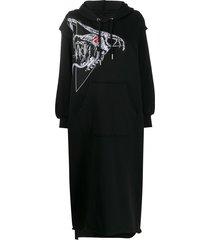 diesel cut-out hoodie dress - black