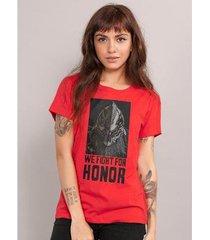 camiseta bandup for honor type cavaleiro