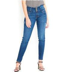 jeans estilo skinny tiro medio color-azul-talla-8