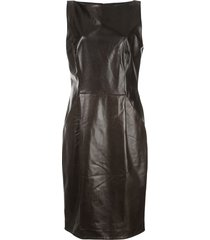 adam lippes fitted textured dress - black