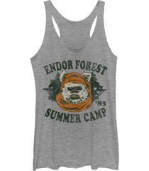 fifth sun star wars endor summer camp '83 head shot portrait tri-blend racer back tank