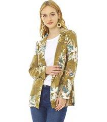blazer básico print mujer camel tropical corona