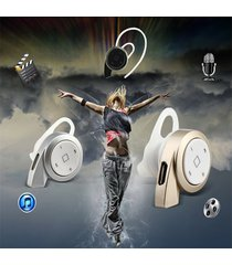 audífonos bluetooth deportivos, auriculares estéreo audifonos bluetooth manos libres  a8 mini inalámbrico manos libres universal para todos los teléfonos (plata blanca)