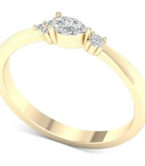 diamond pear-cut promise ring (1/5 ct. t.w.) in 10k gold