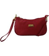 bolsa carteira clutch topgrife transversal couro vermelho - vermelho - feminino - dafiti