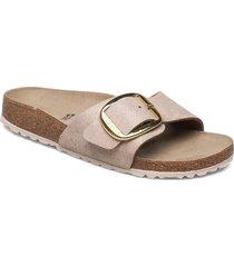 madrid big buckle shoes summer shoes flat sandals beige birkenstock
