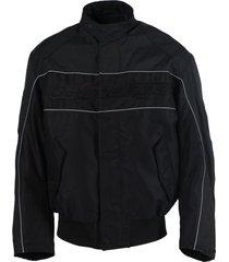black and grey racing jacket