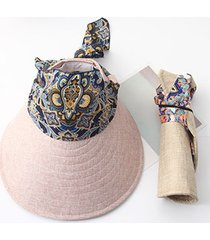 donna cappello pieghevole con tesa larga staccabile multifunzionale antivento cappello da spiaggia viaggio
