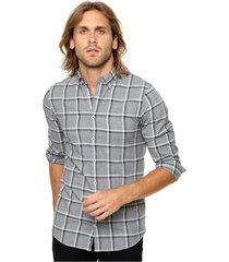 camisa gris tommy hilfiger corte slim fit payson jaspe chk