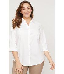 classic 3/4 -sleeve no-iron shirt