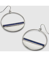 lane bryant women's embellished circle drop earrings onesz night sky