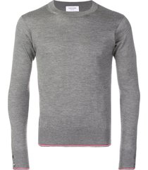 thom browne classic cashmere crew neck pullover - grey