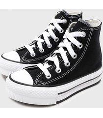 zapatilla chuck taylor all star eva lift negro converse