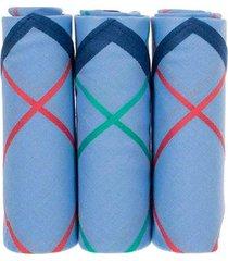 pack x 3 pañuelos clásicos en contraste en algodón hombre 87309