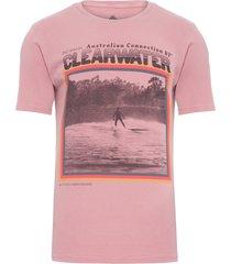 t-shirt masculina tinturada silk clear water v - rosa