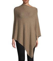 asymmetrical cashmere poncho