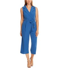 vince camuto belted wide-leg jumpsuit