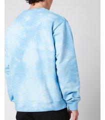 martine rose men's classic crewneck sweatshirt - light blue - xl