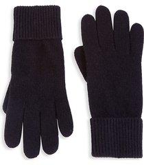 portolano women's folded cuffs cashmere gloves - black