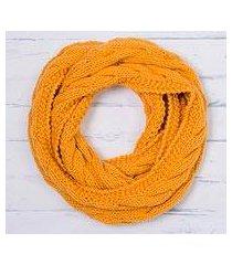 alpaca blend infinity scarf, 'andean swirl in marigold' (peru)