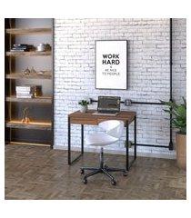 mesa de escritório kuadra 2 gv nogal 90 cm
