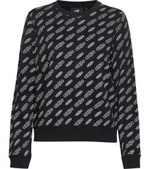 aop cn regular hwk sweat-shirt tröja svart calvin klein jeans