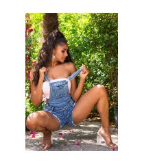 sexy denim-spijkerstof shorts tuinbroek blauw