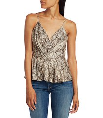 anabelle snake-print peplum camisole top