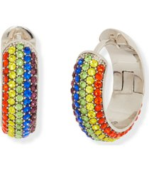 """kate spade new york small pave wide hoop earrings, 0.7"""""""