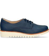 zapatos casuales azul bata flexible zistra r mujer