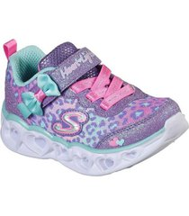 zapatilla morado heart lights skechers