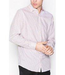 selected homme shdonepen-frelly shirt ls aop skjortor vit