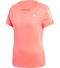 camiseta rosa adidas own the run mujer l 21230 rosa