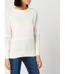 isabel marant étoile women's milly multi sweatshirt - yellow/green - fr 36/uk 8