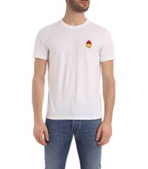 ami alexandre mattiussi crewneck tee with smiley patch