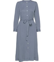 button front midi shirtdress in tencel™ knälång klänning blå gap