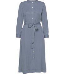 button front midi shirtdress in tencel™ knälång klänning blå gap