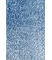 plus size women's good american the bombshell high waist distressed denim shorts, size 16 - blue