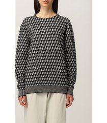 giorgio armani sweater giorgio armani sweater in virgin wool with geometric jacquard pattern