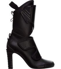 stivaletti stivali donna con tacco in pelle promenade