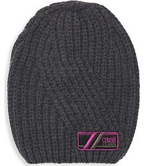 wool ribbed knit beanie