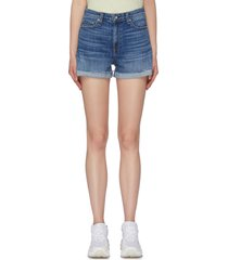'nina' raw roll cuff denim shorts