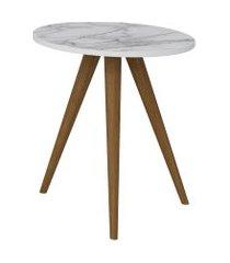 mesa lateral 500 branco/carrara be mobiliário
